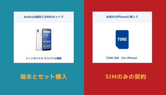 TONE SIM(for iPhone)とセット契約
